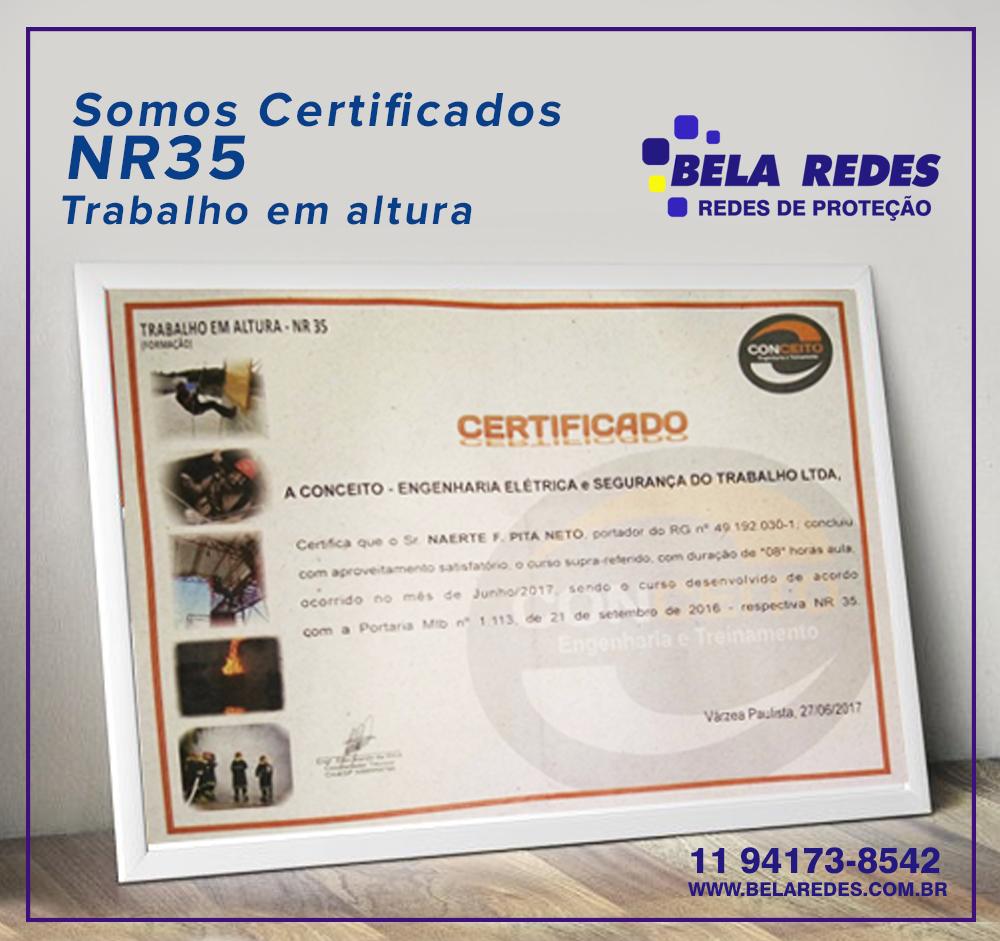 Somos Certificados Bela Redes Redes De Proteção